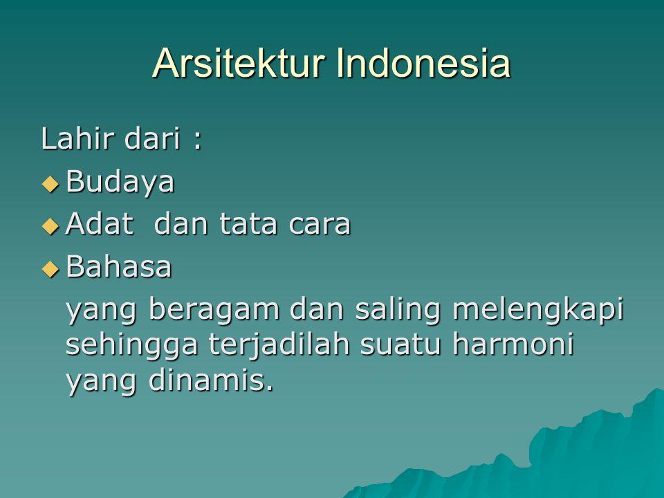 Arsitektur Jawa  Susunan rumah tani tradisional Jawa maupun istana raja terbagi dalam dua komponen : dalem (dalam) / petanen (tempat sang tani) dan pelataran / njaba (halaman luar) Pelataran  termasuk wilayah rumah yang dipakai umum, perjamuan dan permainan anak-anak sedesa.