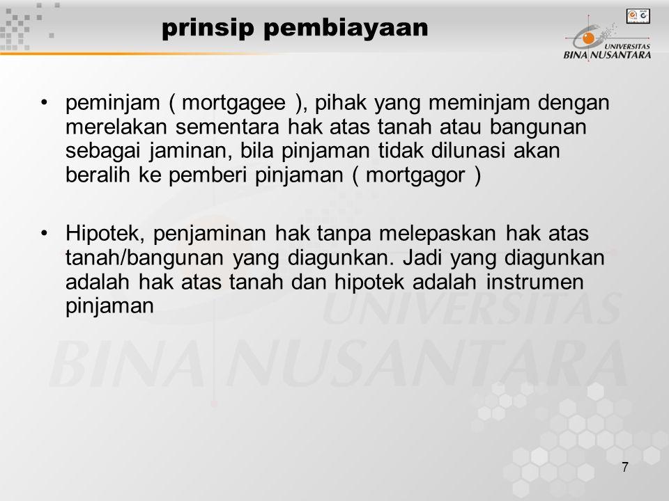 8 agunan Pada dasarnya pemberi pinjaman akan melihat nilai agunan, sumber pengembalian Dipertimbangkan pula perbandingan antara hutang dan modal Nilai agunan biasanya 1,5 x pinjaman