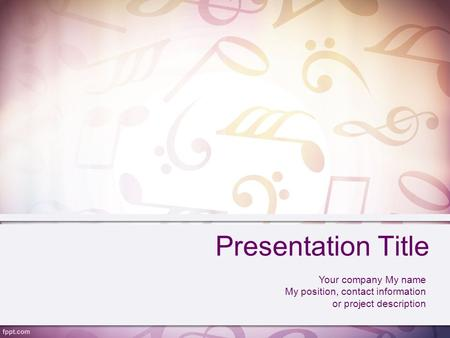 Presentation Title Your company My name My position, contact information or project description.