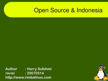 Open Source & Indonesia