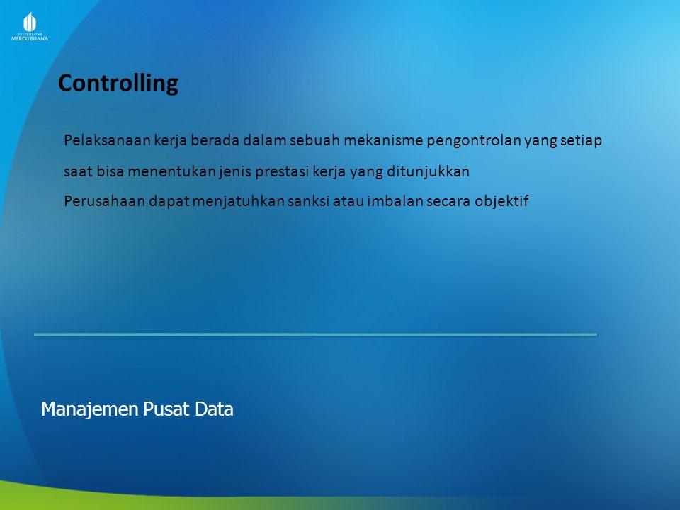 Prosedur dan Instruksi Kerja Manajemen Pusat Data Prosedur Kerja adalah : Langkah-langkah (tata urutan) yang harus dilakukan sebagai pedoman bagi siapa saja yang akan melakukan pekerjaan tersebut secara terkendali dan konsiten.