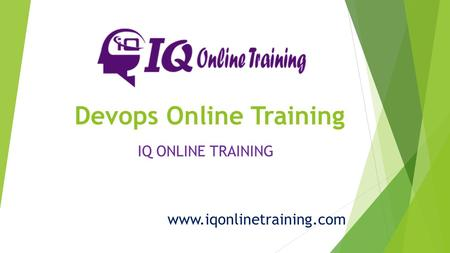 Devops Online Training IQ ONLINE TRAINING