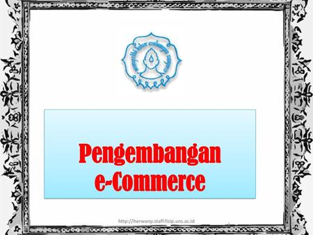 Pengembangan e-Commerce