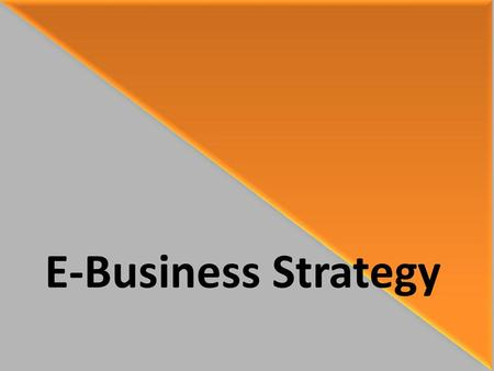 E-Business Strategy.