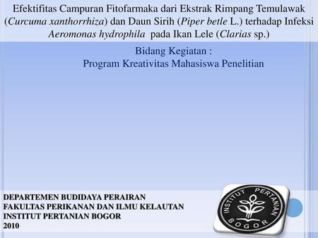 Program Kreativitas Mahasiswa Penelitian