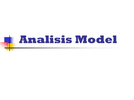 Analisis Model.