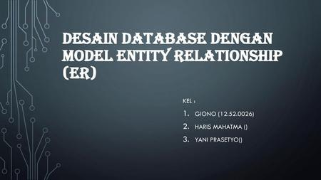 Desain Database Dengan Model Entity Relationship (ER)