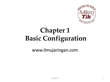 Chapter 1 Basic Configuration