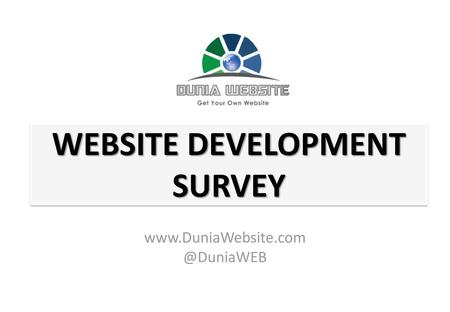 WEBSITE DEVELOPMENT SURVEY