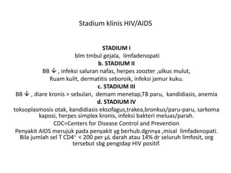 Stadium klinis HIV/AIDS