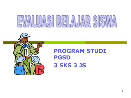 PROGRAM STUDI PGSD 3 SKS 3 JS