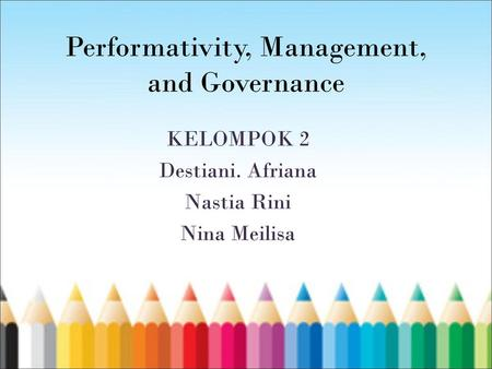 Performativity, Management, and Governance