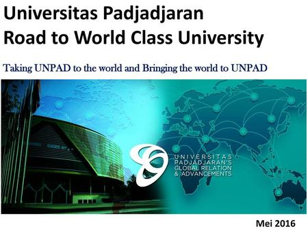 Universitas Padjadjaran Road to World Class University