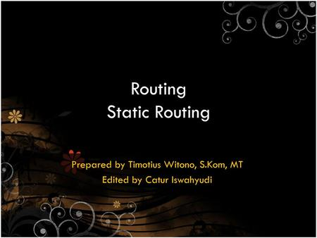 Routing Static Routing