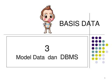 BASIS DATA 3 Model Data dan DBMS.