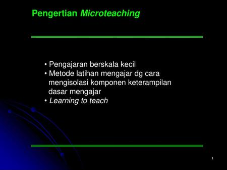 Pengertian Microteaching