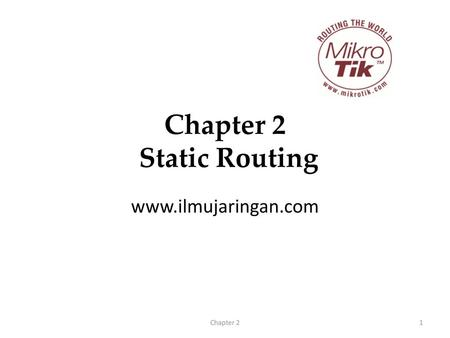 Chapter 2 Static Routing