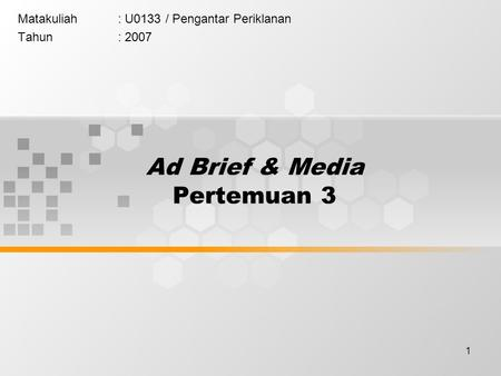 Ad Brief & Media Pertemuan 3