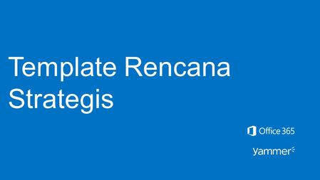 Template Rencana Strategis