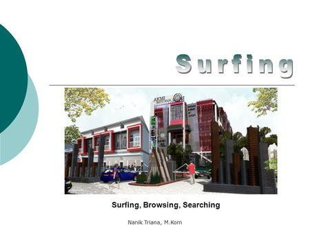 Surfing Surfing, Browsing, Searching Nanik Triana, M.Kom.