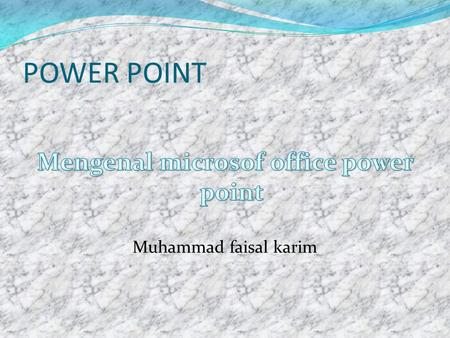 POWER POINT. PENDAHULUAN  Ms office power point adalah salah satu aplikasi dari microsoft yang digunakan untuk presentasi.  Penggunaan ms office power.