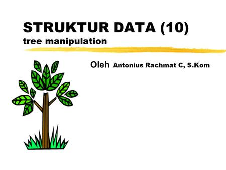 STRUKTUR DATA (10) tree manipulation Oleh Antonius Rachmat C, S.Kom.