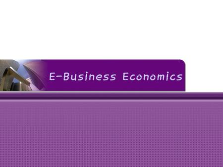 E-Business Economics.