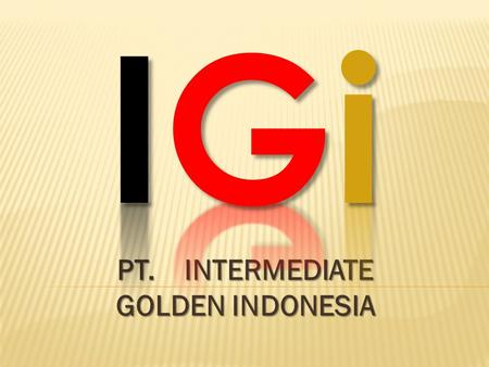 PT. INTERMEDIATE GOLDEN INDONESIA