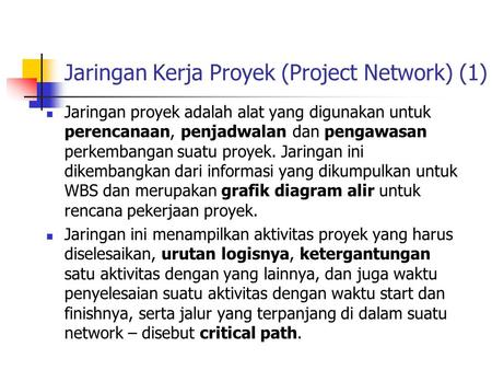 Operations management ppt download jaringan kerja proyek project network 1 ccuart Image collections