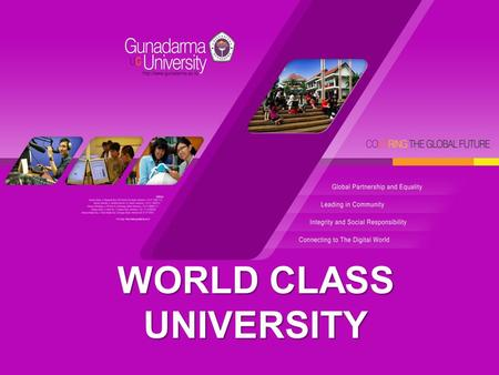 WORLD CLASS UNIVERSITY. Welcome to Join With Us.