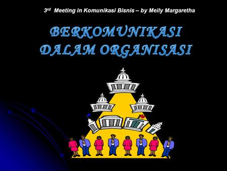 3 rd Meeting in Komunikasi Bisnis – by Meily Margaretha.
