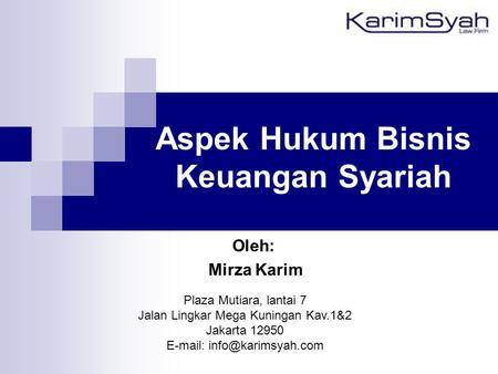 Ruang lingkup hukum perbankan indonesia