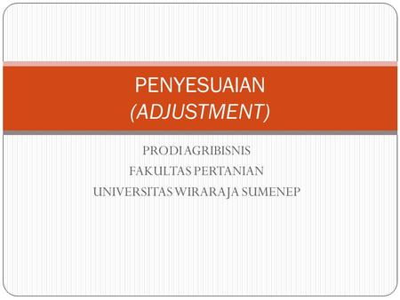 PENYESUAIAN (ADJUSTMENT)