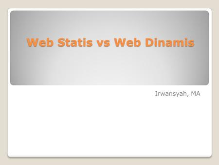 Web Statis vs Web Dinamis