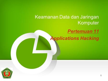 1 Keamanan Data dan Jaringan Komputer Pertemuan 11 Applications Hacking.