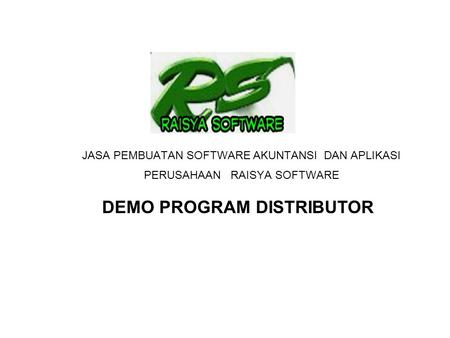 DEMO PROGRAM DISTRIBUTOR