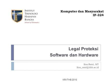 Legal Proteksi Software dan Hardware