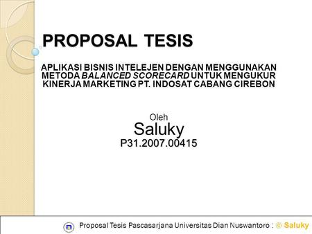 PROPOSAL TESIS Saluky P