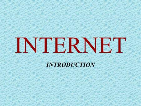 INTERNET INTRODUCTION. CONTENTS •Network •Introduction •Web Browser •E-mail & e-mail client •Instant Messenger •Skype •Blog •Forum Diskusi •Internet TV.