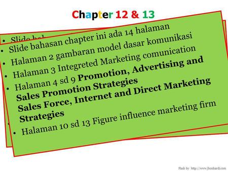 Chapter 12 & 13 Slide bahasan chapter ini ada 14 halaman