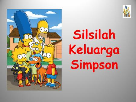 Silsilah Keluarga Simpson. Simpsons Bart Lisa Santa's Little Helper Snowball Maggie HomerMarge.
