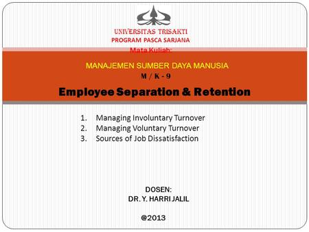 Employee Separation & Retention