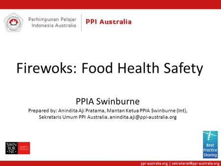 Firewoks: Food Health Safety
