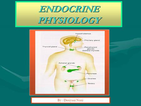 ENDOCRINE PHYSIOLOGY By : Desiyani Nani.