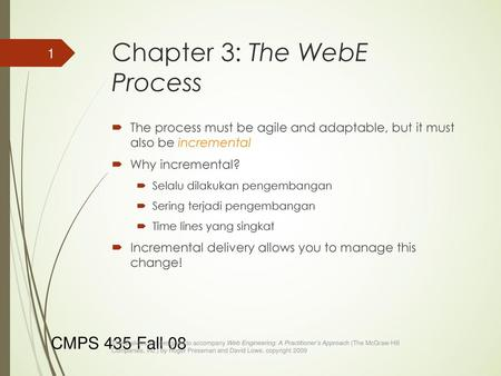Chapter 3: The WebE Process