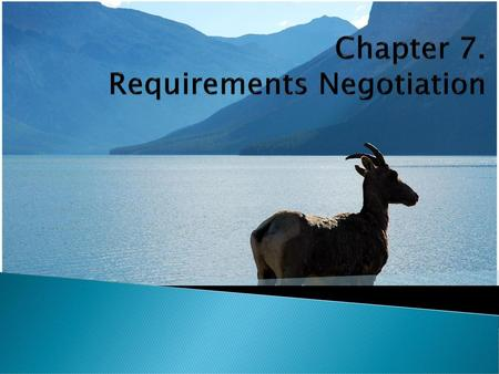 Chapter 7. Requirements Negotiation