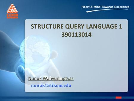 STRUCTURE QUERY LANGUAGE 1 390113014 Nunuk Wahyuningtyas