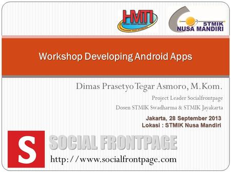 Workshop Developing Android Apps