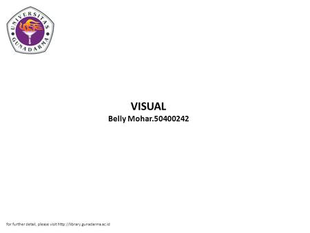VISUAL Belly Mohar.50400242 for further detail, please visit