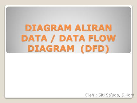 DIAGRAM ALIRAN DATA / DATA FLOW DIAGRAM (DFD)